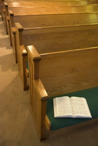 Open Bible on a Church Pew